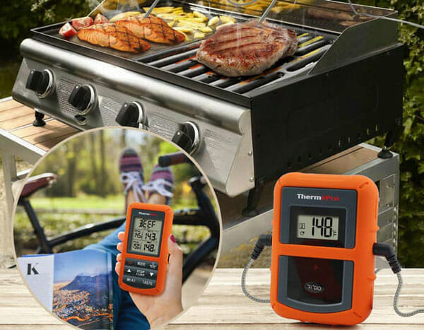 Monitoring meat temperature with ThermoPro-TP20