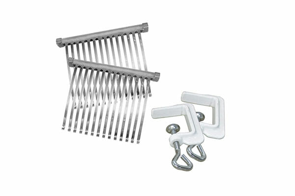 Weston Meat Tenderizer with two stainless steel combs and two C-clamps