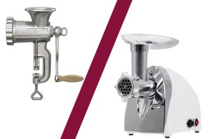 manual and electric meat grinders
